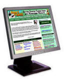 Monitor displaying the www.Richardpresents.com website