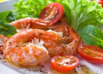 shrimp and salad diatetic menu